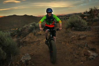 Professional trail builder Kevin Joell takes the RGJ on a guided mountain bike ride on the newly opened North Valleys Trail near Stead.