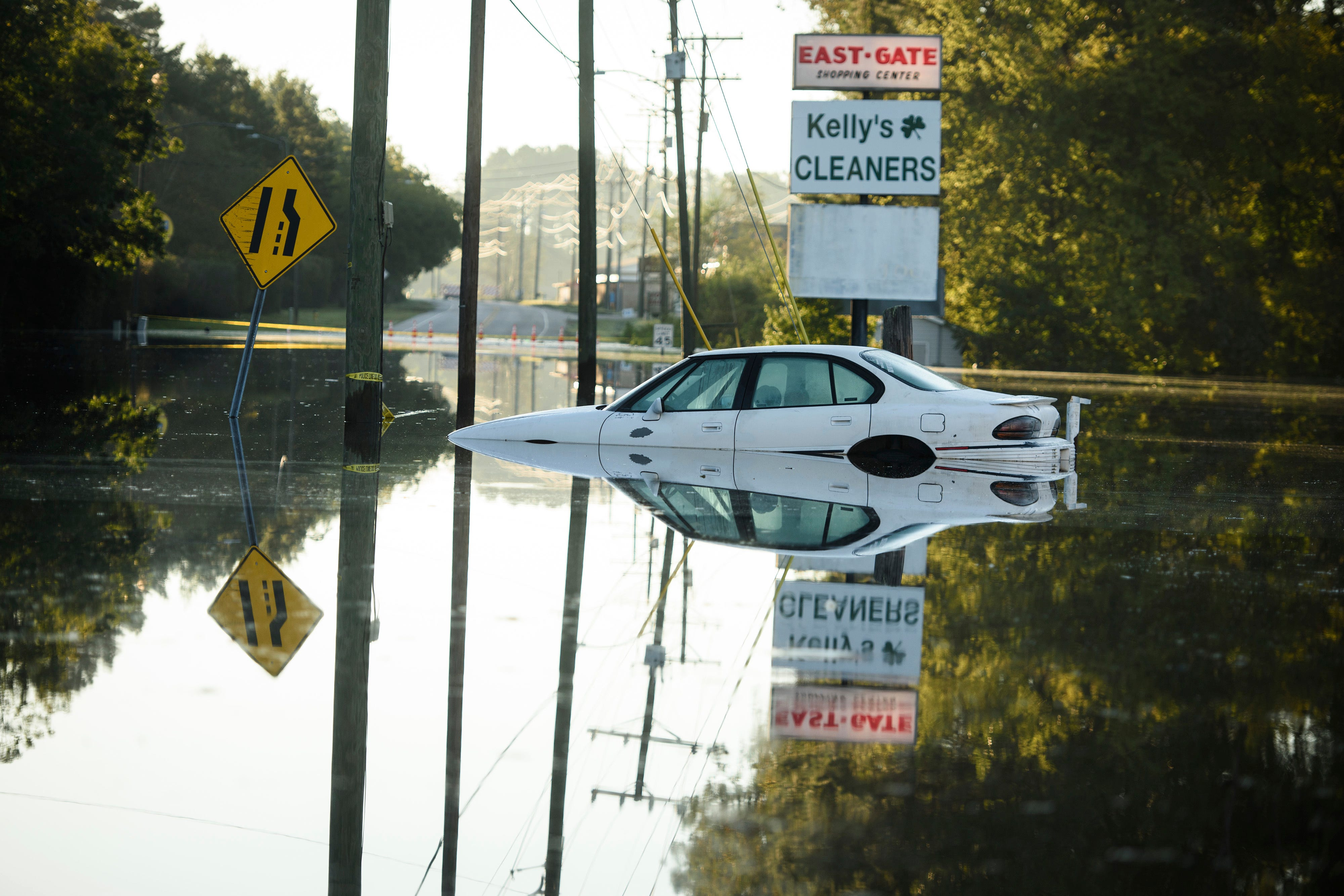 Flooding from Hurricane Florence on Wednesday in Fayetteville, N.C.