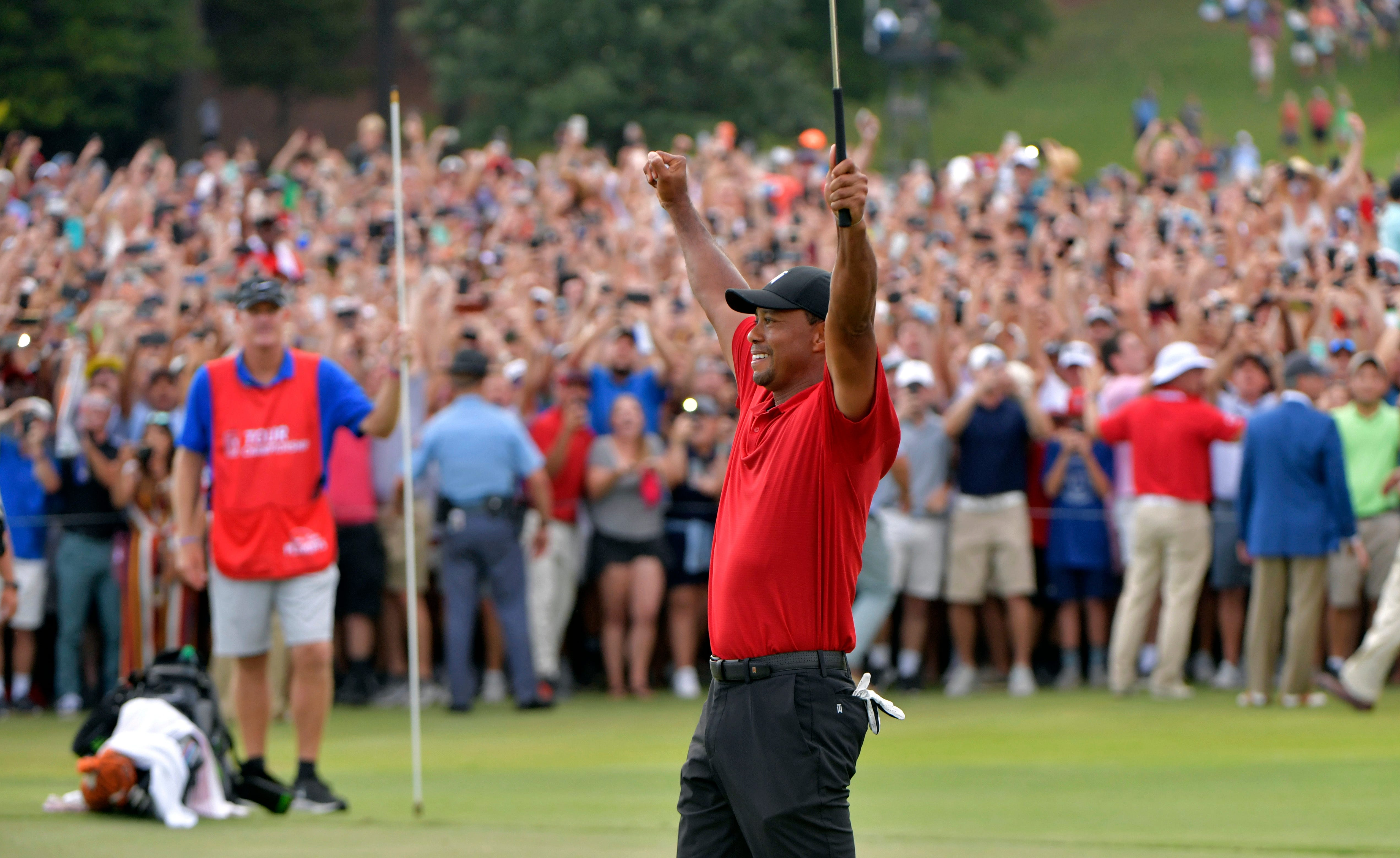 cece359bd119c Tiger Woods wins Tour Championship by two shots for his first victory in  five years
