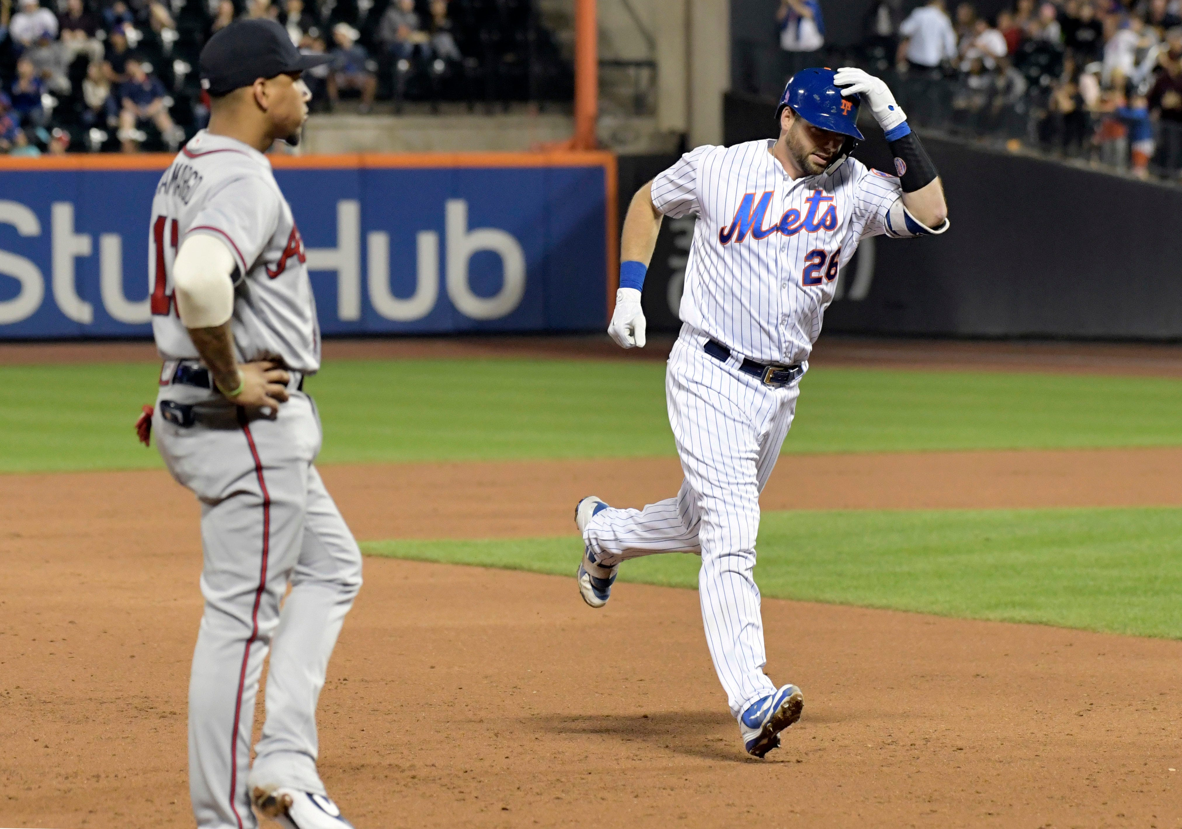 Teheran sharp in playoff audition, Braves fall to Mets 4-1