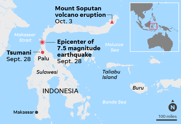 Volcano Eruption Rocks Indonesia After Devastating Earthquake Tsunami