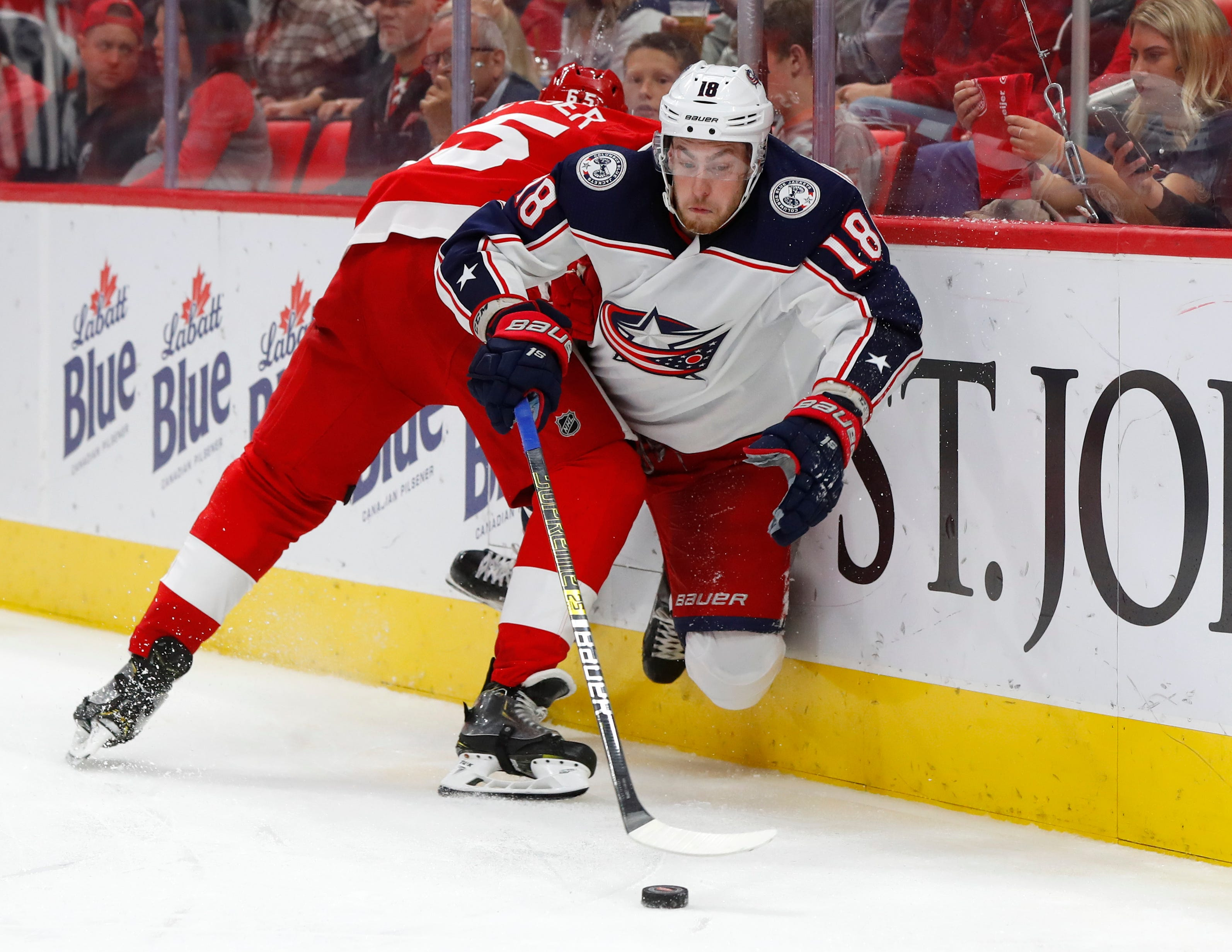 Panarin scores, lifts Blue Jackets to 3-2 OT win over Wings