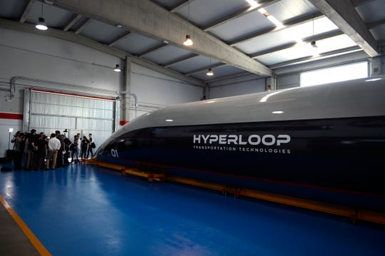 Hyperloop company unveils its full-scale 750-mph 'passenger capsule'