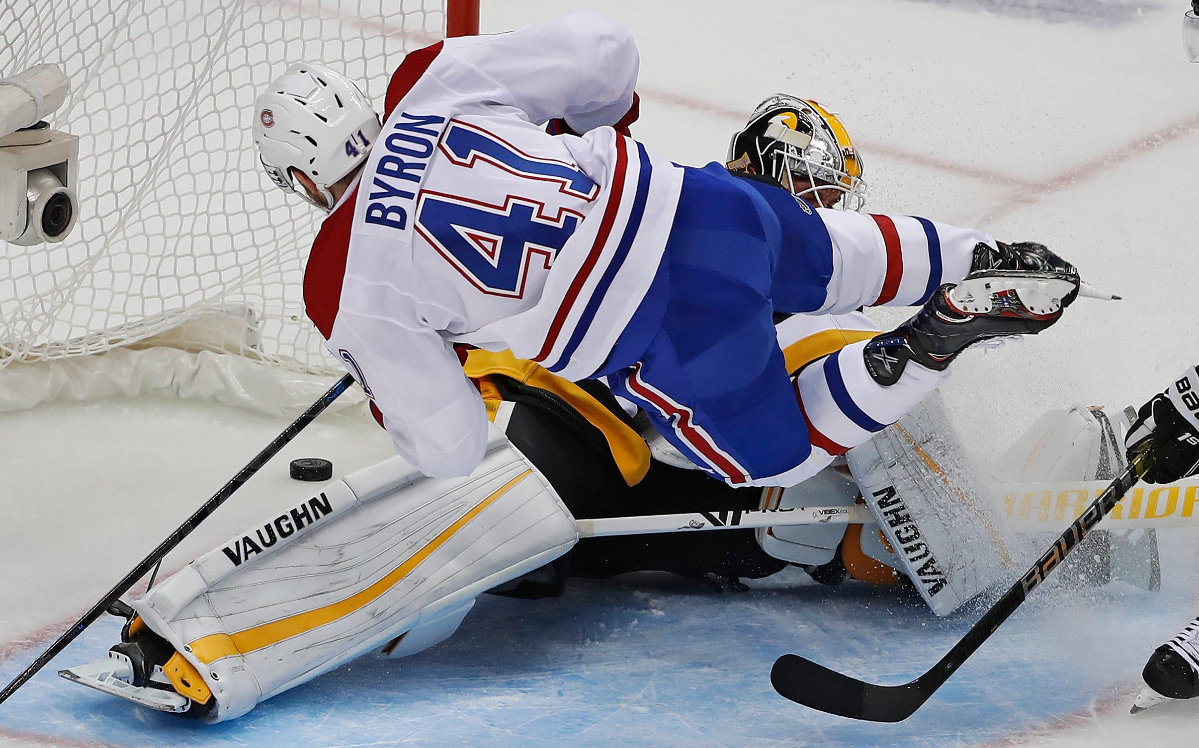 Byron's 2 goals lead Canadiens past Penguins 5-1