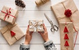 With this one hack, you'll never have to worry about gift wrapping again.  This trick can wrap even the trickiest, oddest-shaped presents!
