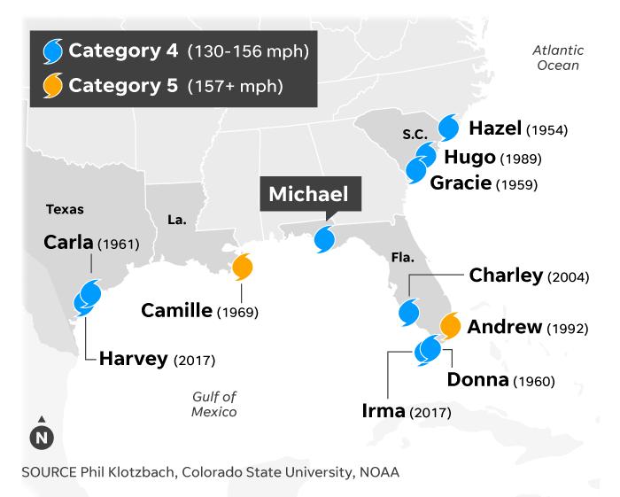 Georgia And Florida Map.Hurricane Michael Look Back Why Path Was So Devastating Weathertiger