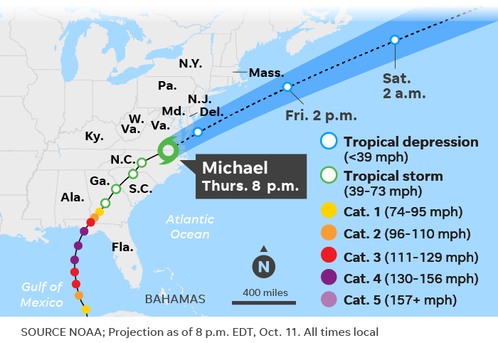 Hurricane Michael Damage Path Wind Speed By The Numbers