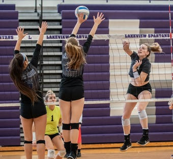 Lakeview wins third straight All-City Volleyball Championship