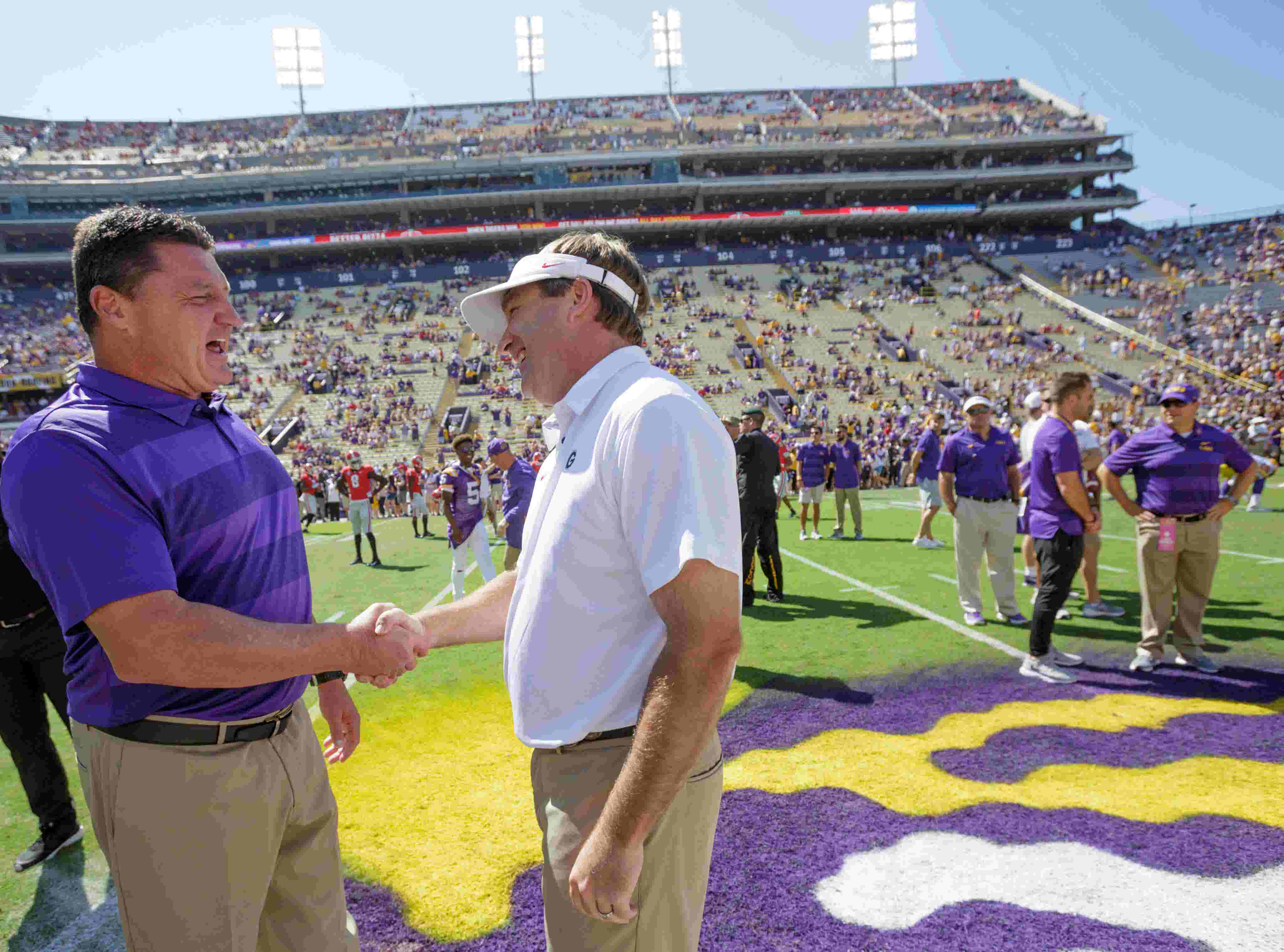 Image result for Win against Georgia pushes LSU into SEC title, College Football Playoff conversation
