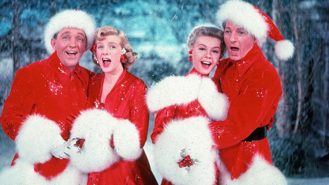 """Bing Cosby, Rosemary Clooney, Vera Ellen and Danny Kaye sing """"White Christmas"""" in the classic holiday movie from 1954. The film has been a favorite in the Rivoli Theatre's Holiday Film Festival in Cedarburg for the past 10 years, but it was dropped from the festival this year because of licensing issues."""