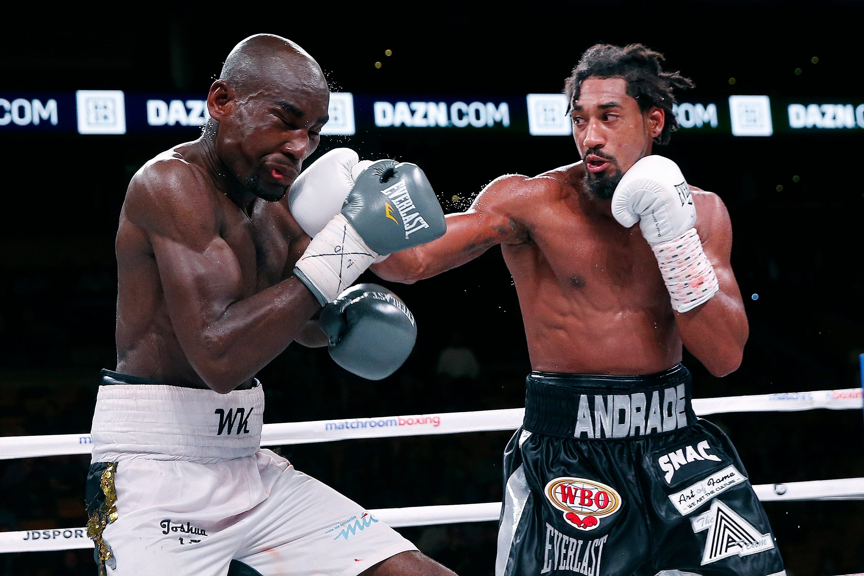 Andrade beats Kautondokwa for WBO middleweight title