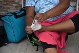 Llagas, deshidratación y fiebre son las dolencias más comunes de los migrantes en la caravana, cada vez más debilitada, que recorre estos días México