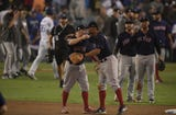SportsPulse: Both the Red Sox and the Dodgers take the mic following Los Angeles' Game 4 victory.
