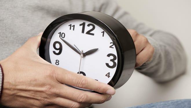 Daylight Saving Time ends Sunday, Nov. 4.