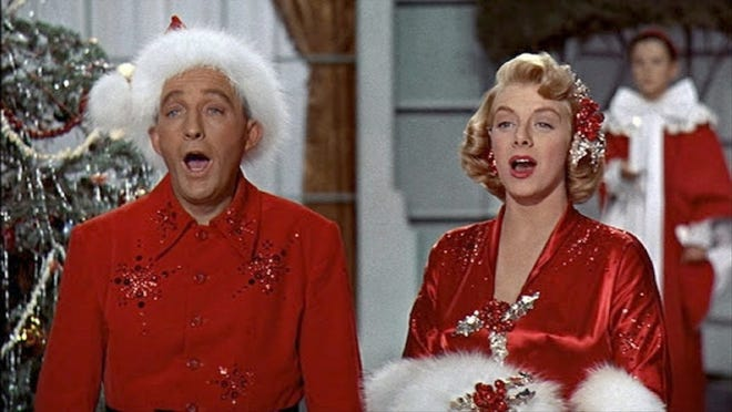 """White Christmas"" is a sentimental holiday perennial starring Bing Crosby and Danny Kaye. Crosby and Kaye are song-and-dance performers who, on a trip to Vermont, meet their beloved former Army general who runs a lodge that is struggling financially."