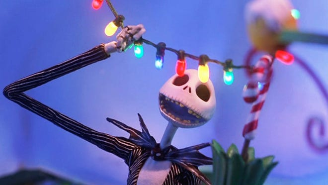 """Celebrate the season  today with a showing of """"The Nightmare Before Christmas"""" at the Navarre Library."""