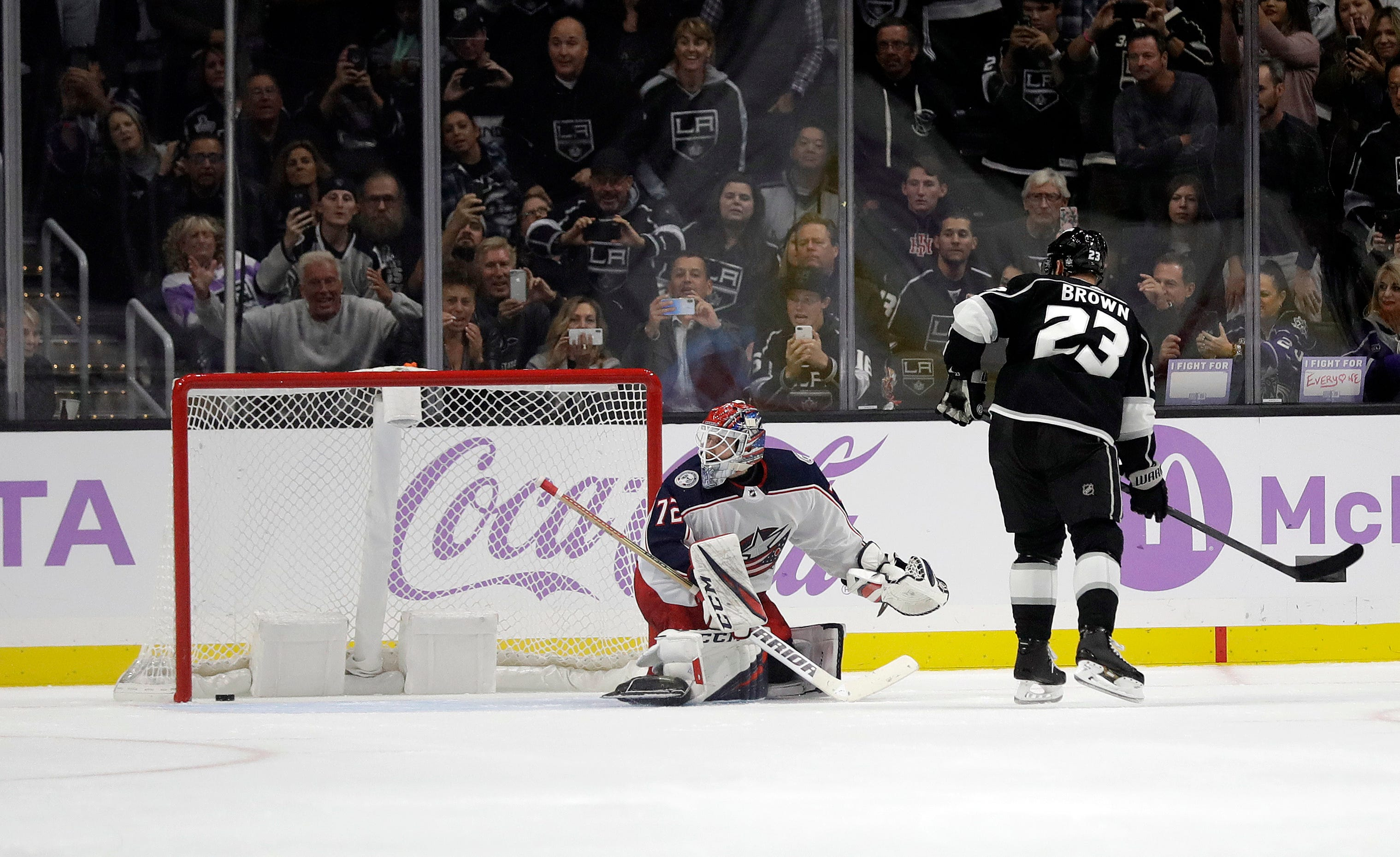 Carter, Campbell lead Kings past Blue Jackets 4-1