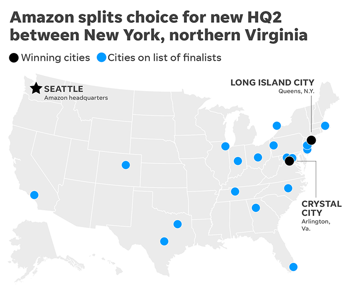 Amazon headquarters: Was the HQ2 search process 'a giant ruse'?