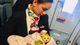 Flight attendant nurses passenger's baby