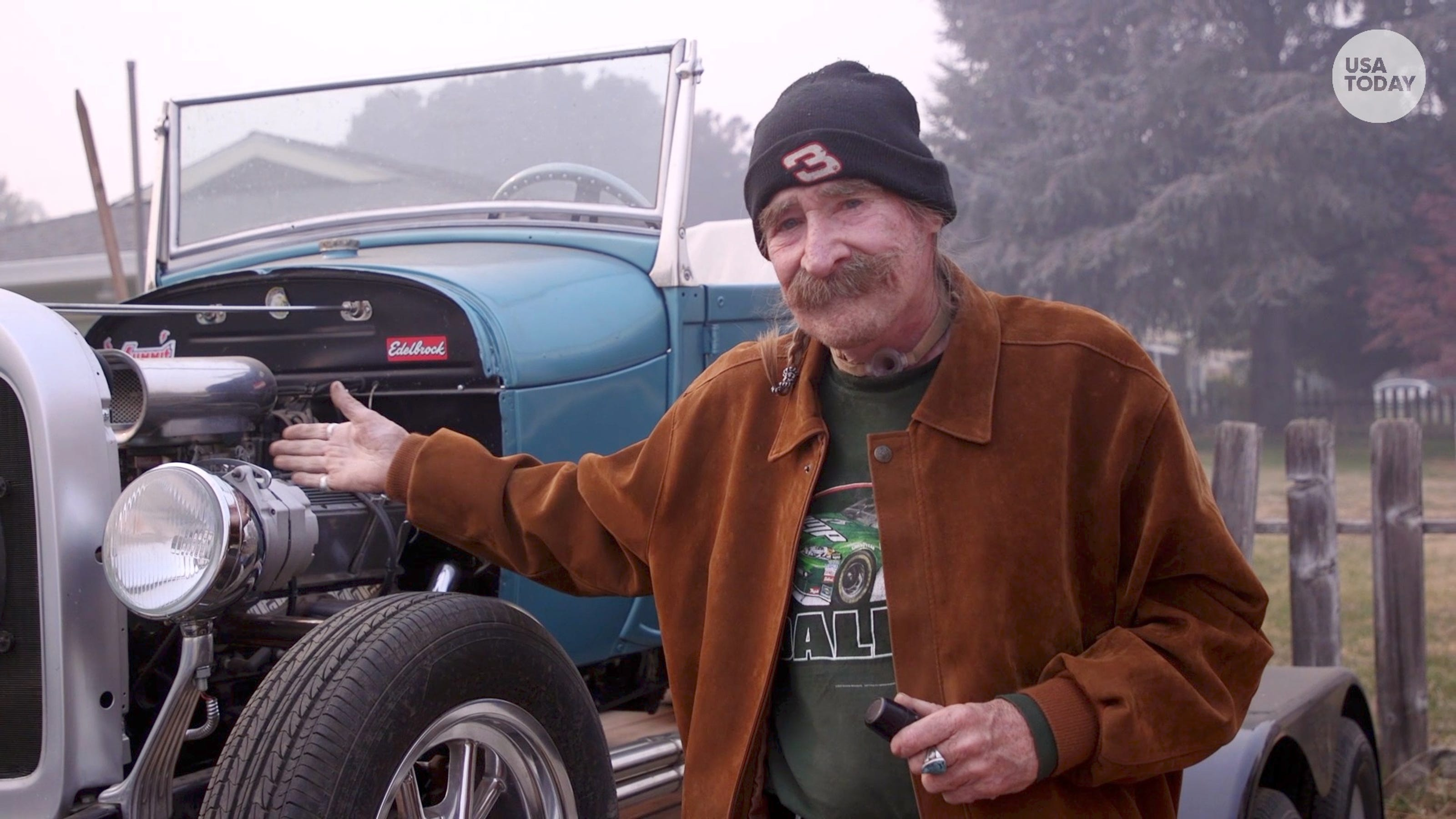 Paradise Man Escapes Camp Fire With Classic Car