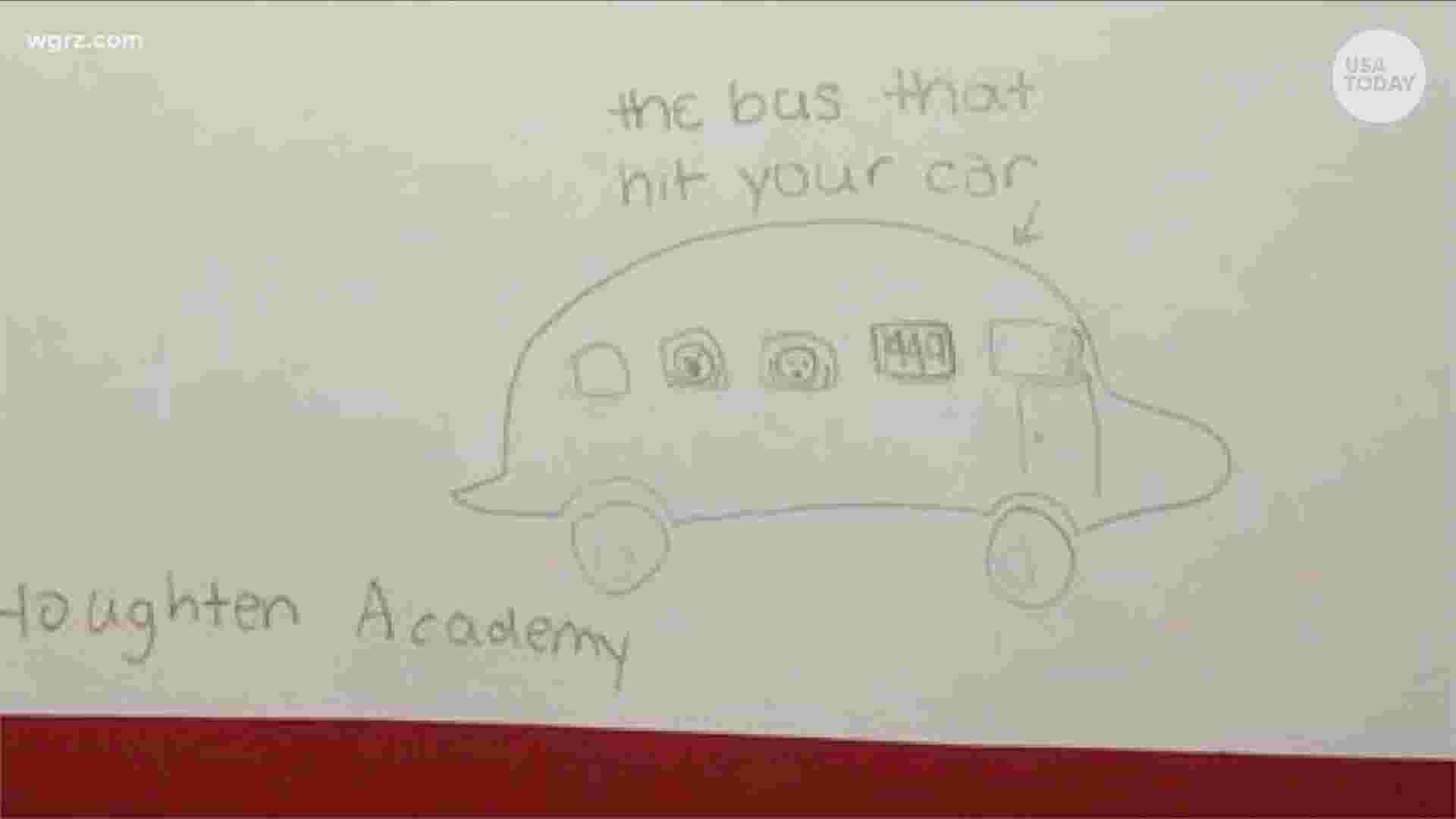 6th Graders Adorable Note Helps Solve A School Bus Hit And Run Viral Tweet Says