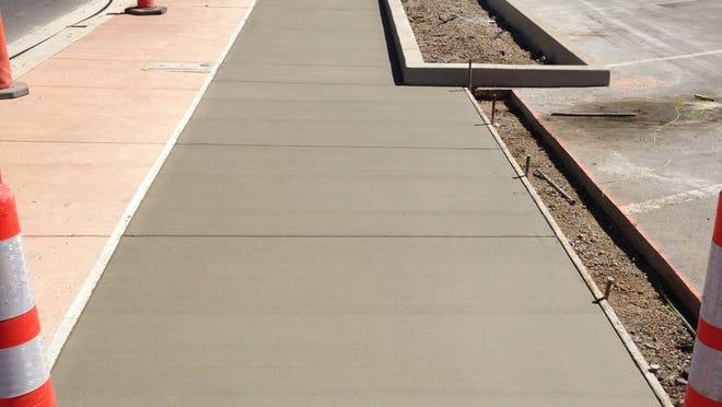 File photo of poured concrete
