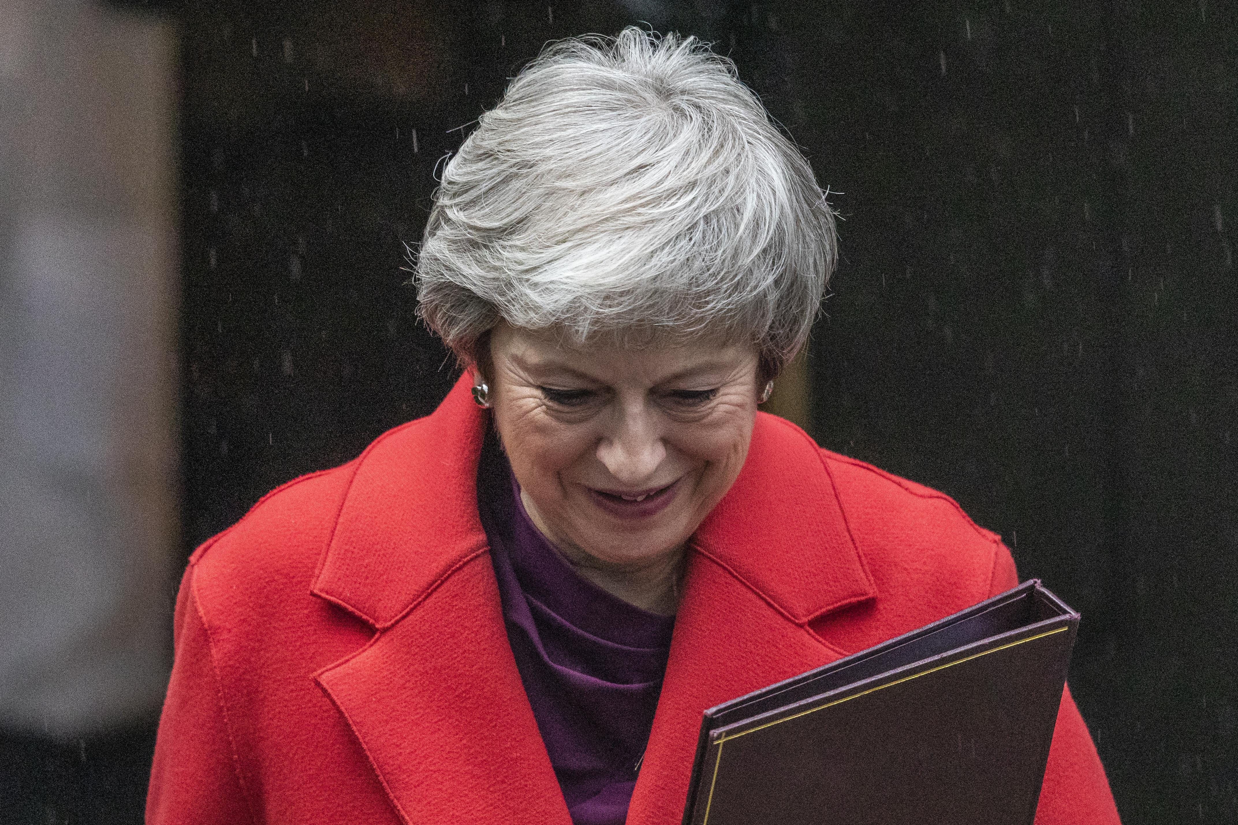 UK's May says she'll still have job after Brexit vote