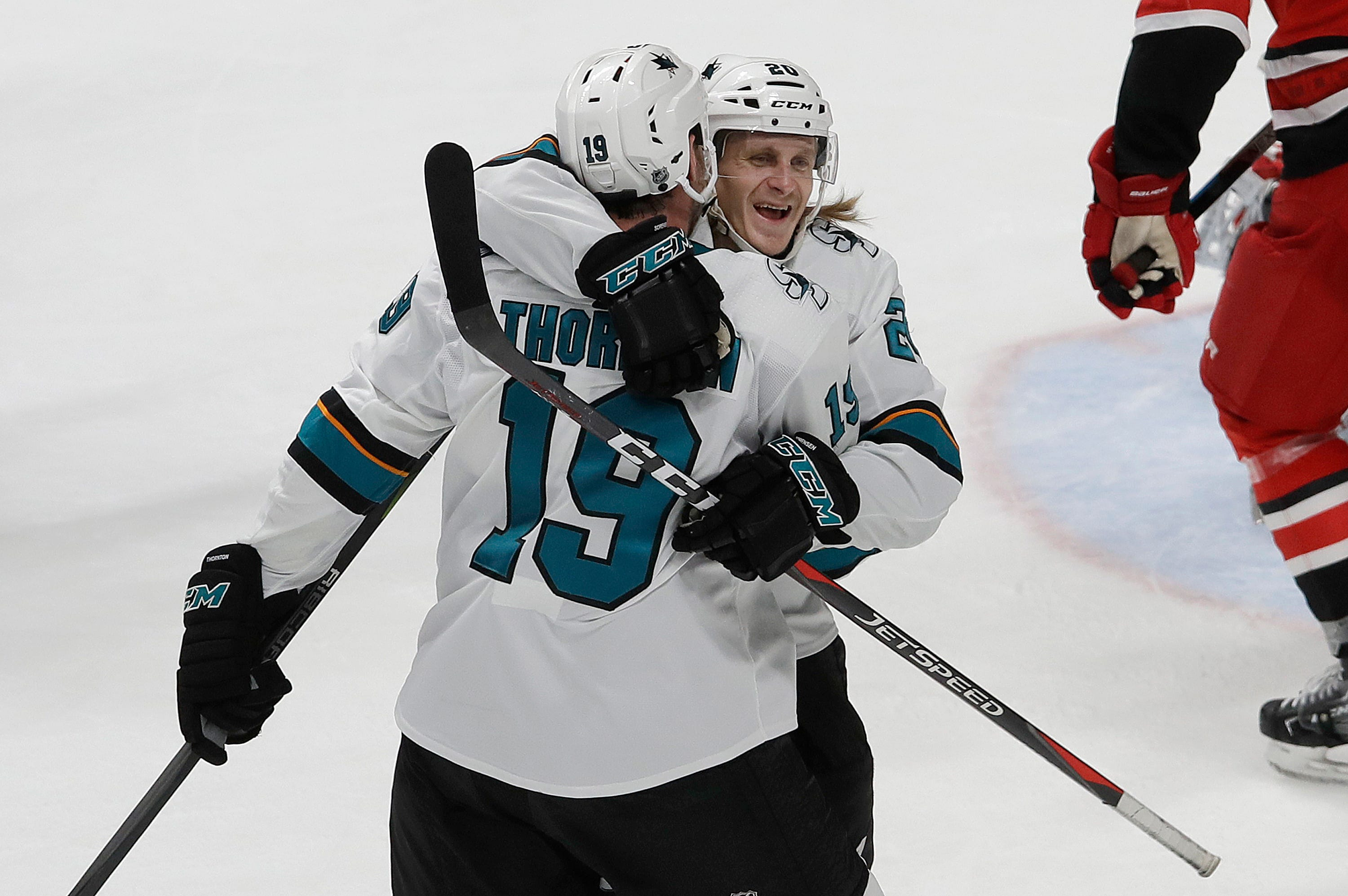 Meier gives Sharks needed boost in 5-1 win over Hurricanes