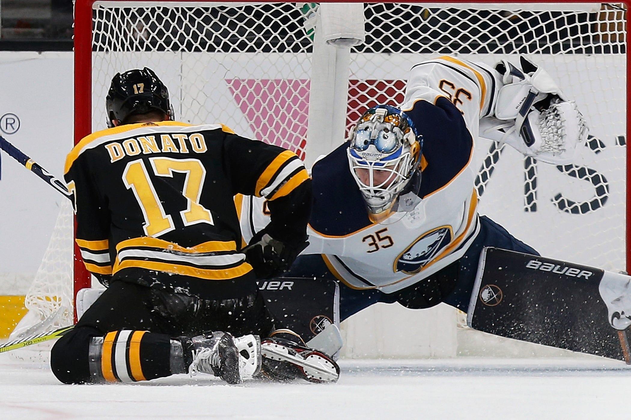 Skinner, Eichel score twice as Sabres top Bruins 4-2