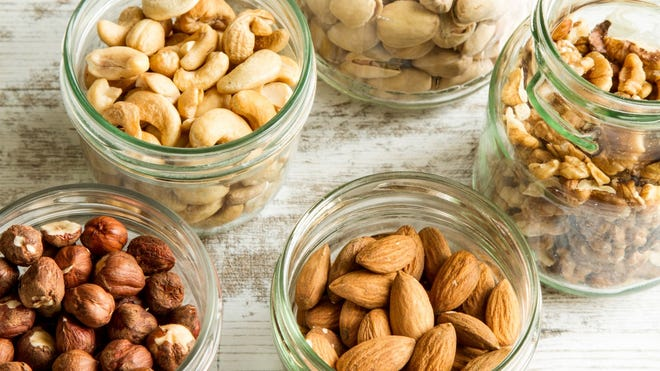 Nuts can be a healthful part of your diet, but they should be consumed in moderation.