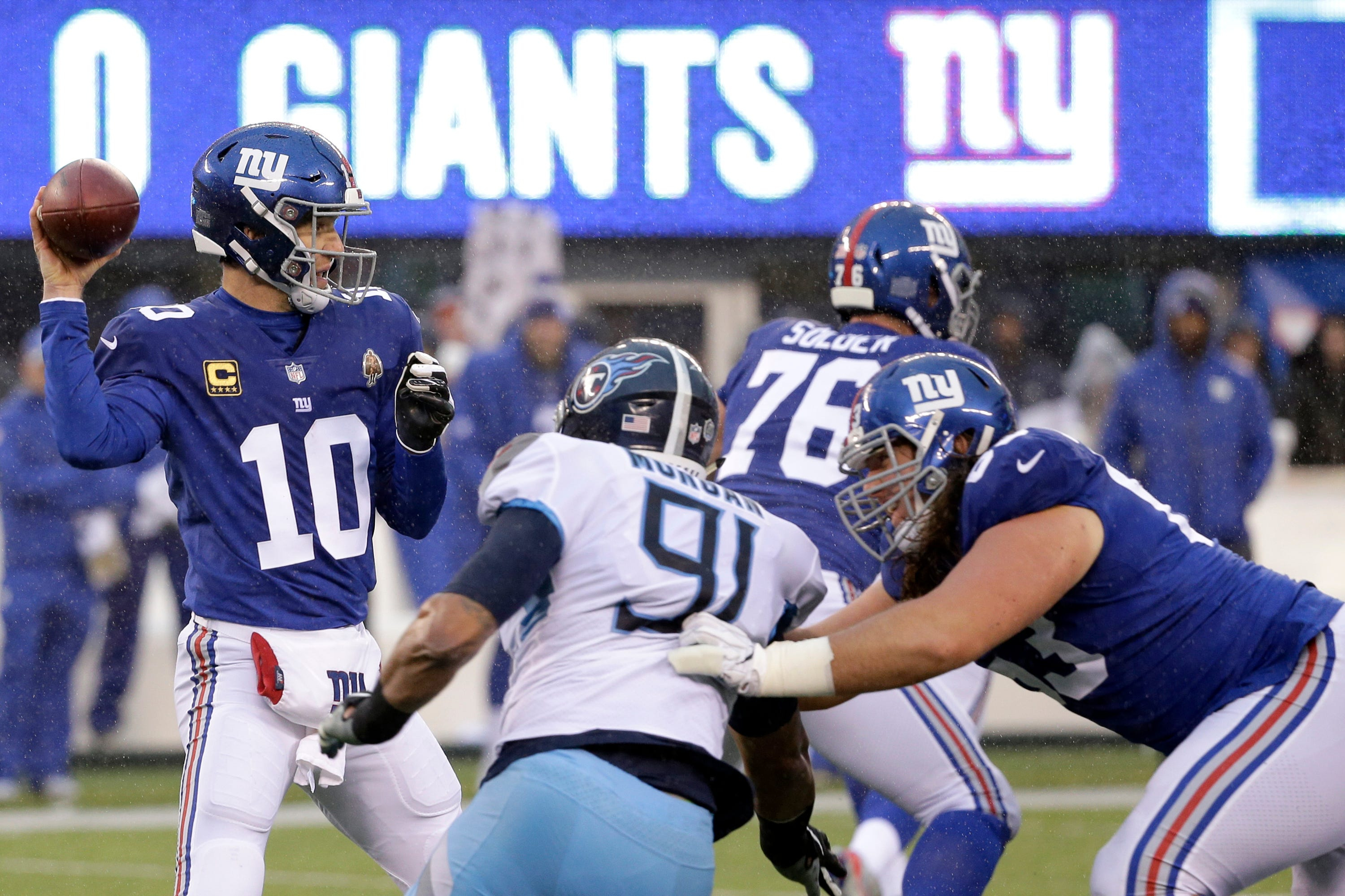 New York Giants back to work a day after being eliminated