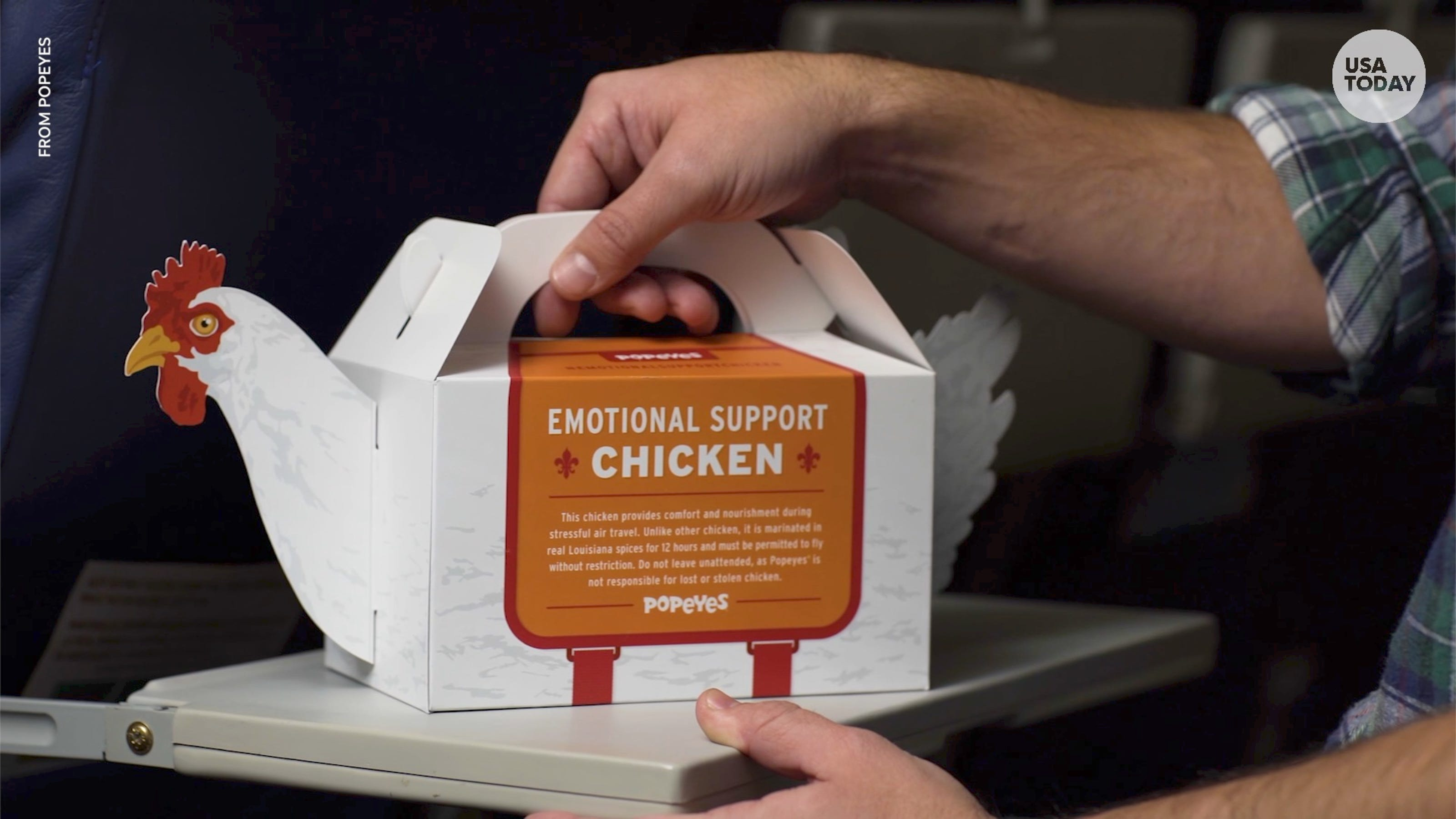 Popeyes offers 'Emotional Support Chicken' to comfort flyers