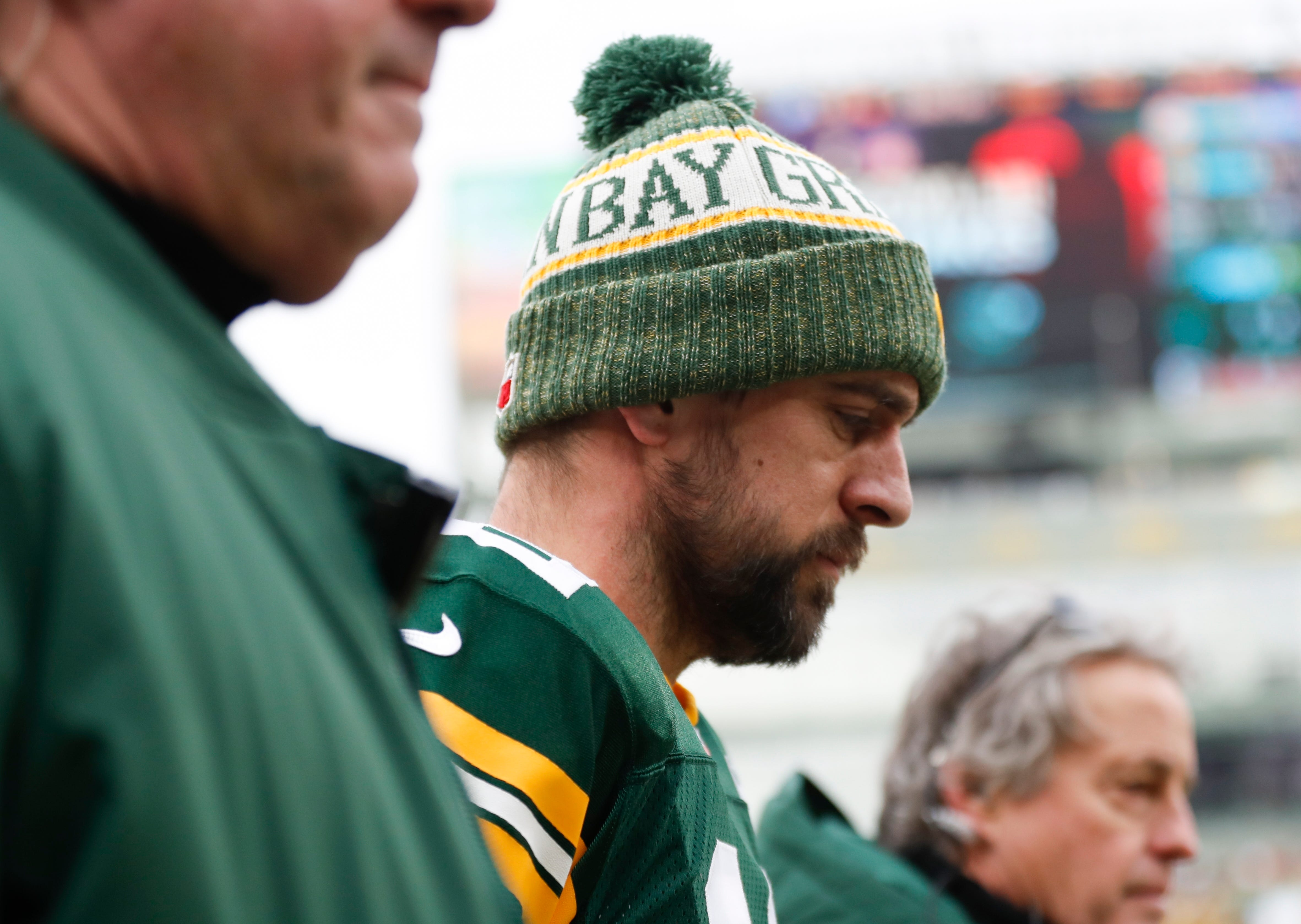 The Latest: Rodgers being evaluated for a concussion