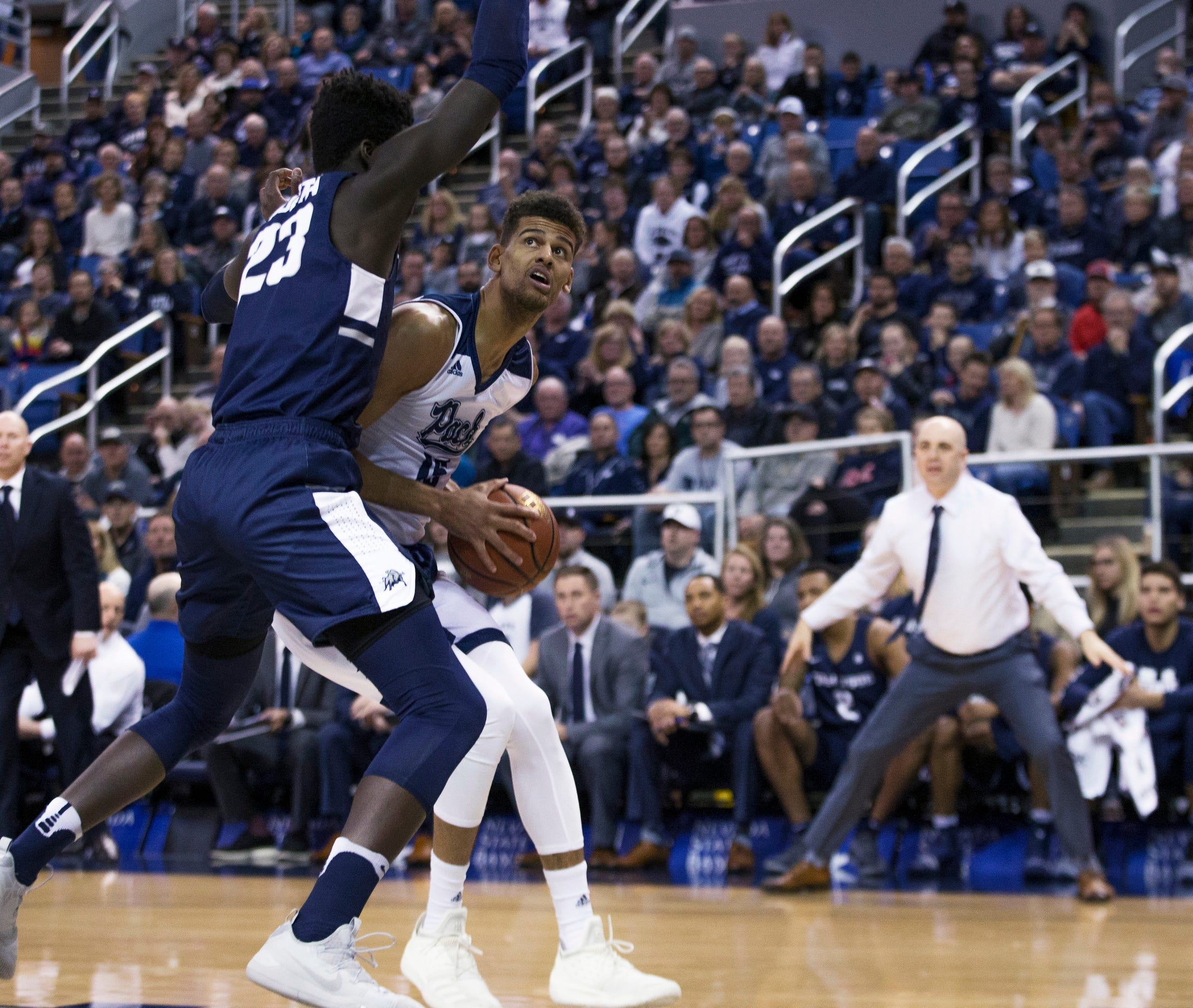 No. 6 Nevada romps past Utah State 72-49 to remain unbeaten