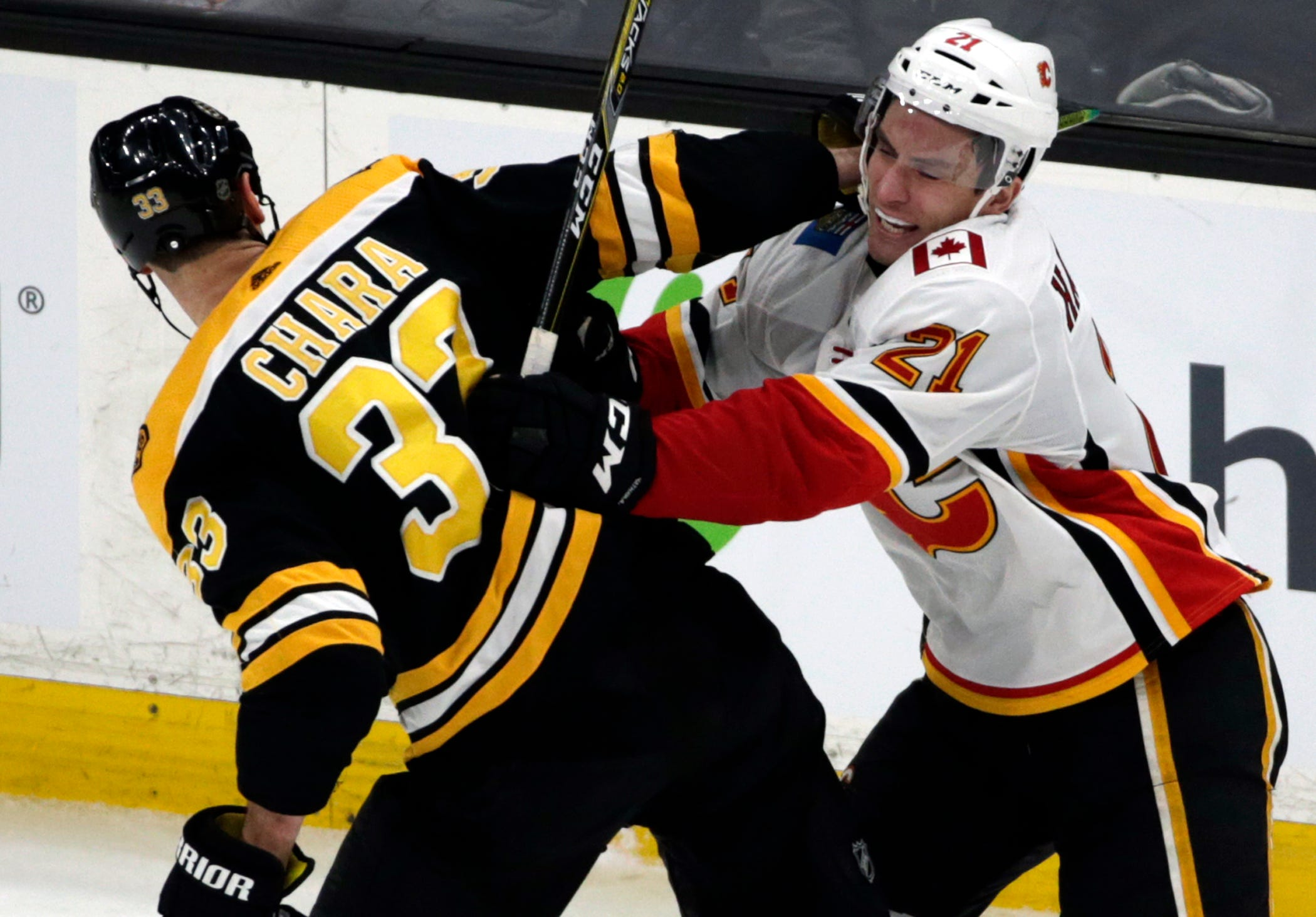 DeBrusk, Marchand lift Bruins over Flames 6-4