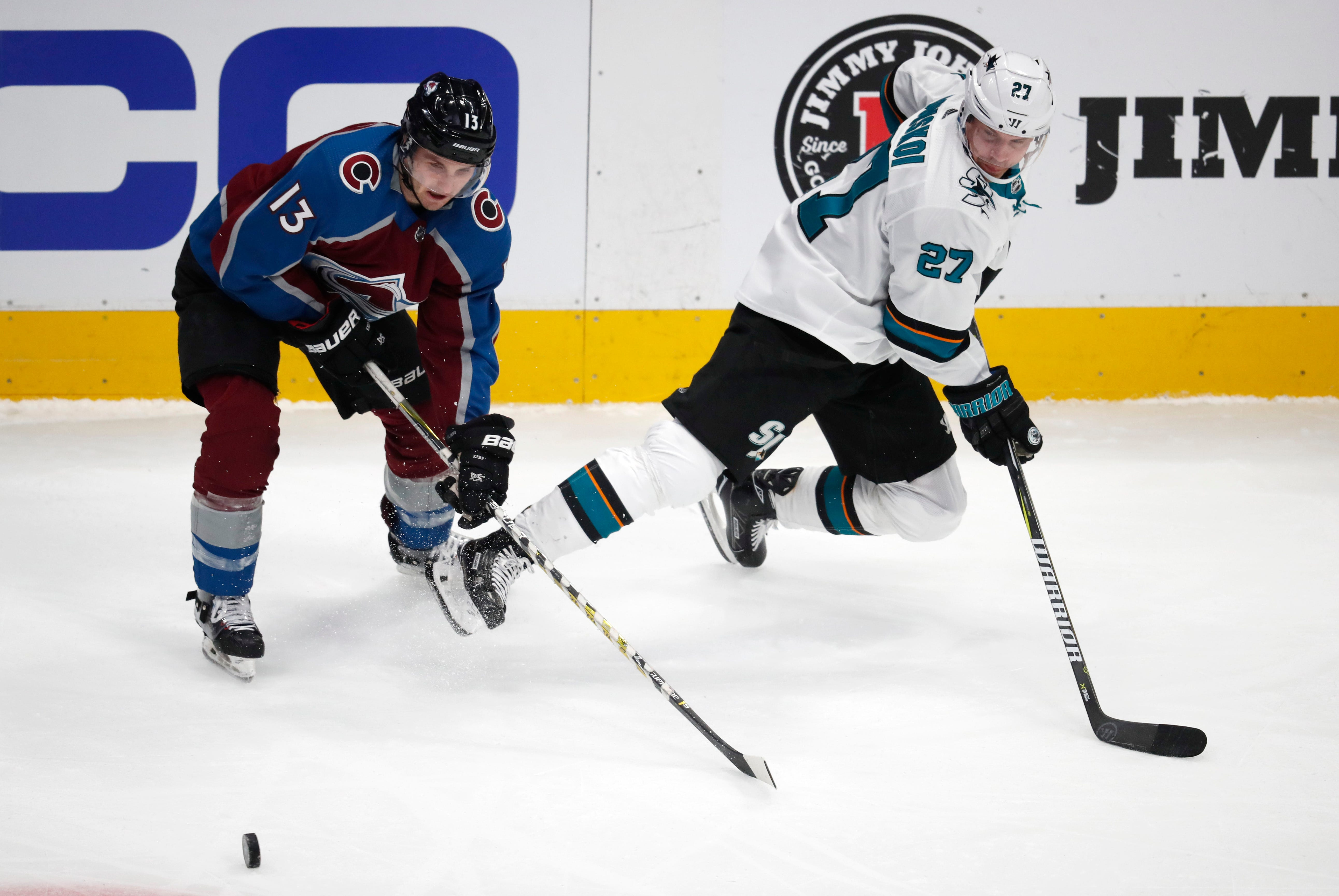 Pavelski, Burns get 4 points each as Sharks beat Avs 5-4