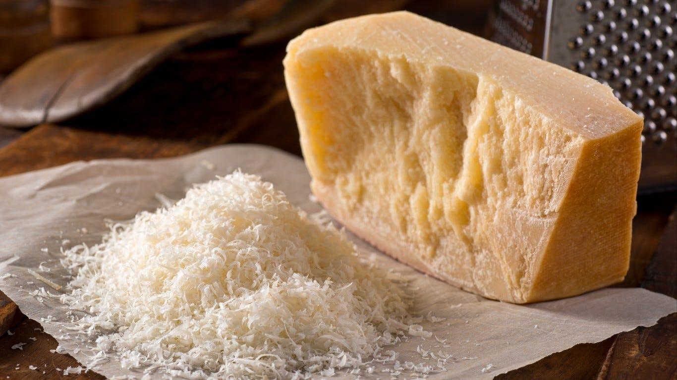 ชีสมีกี่ประเภท พาเมซานชีส Parmesan cheese