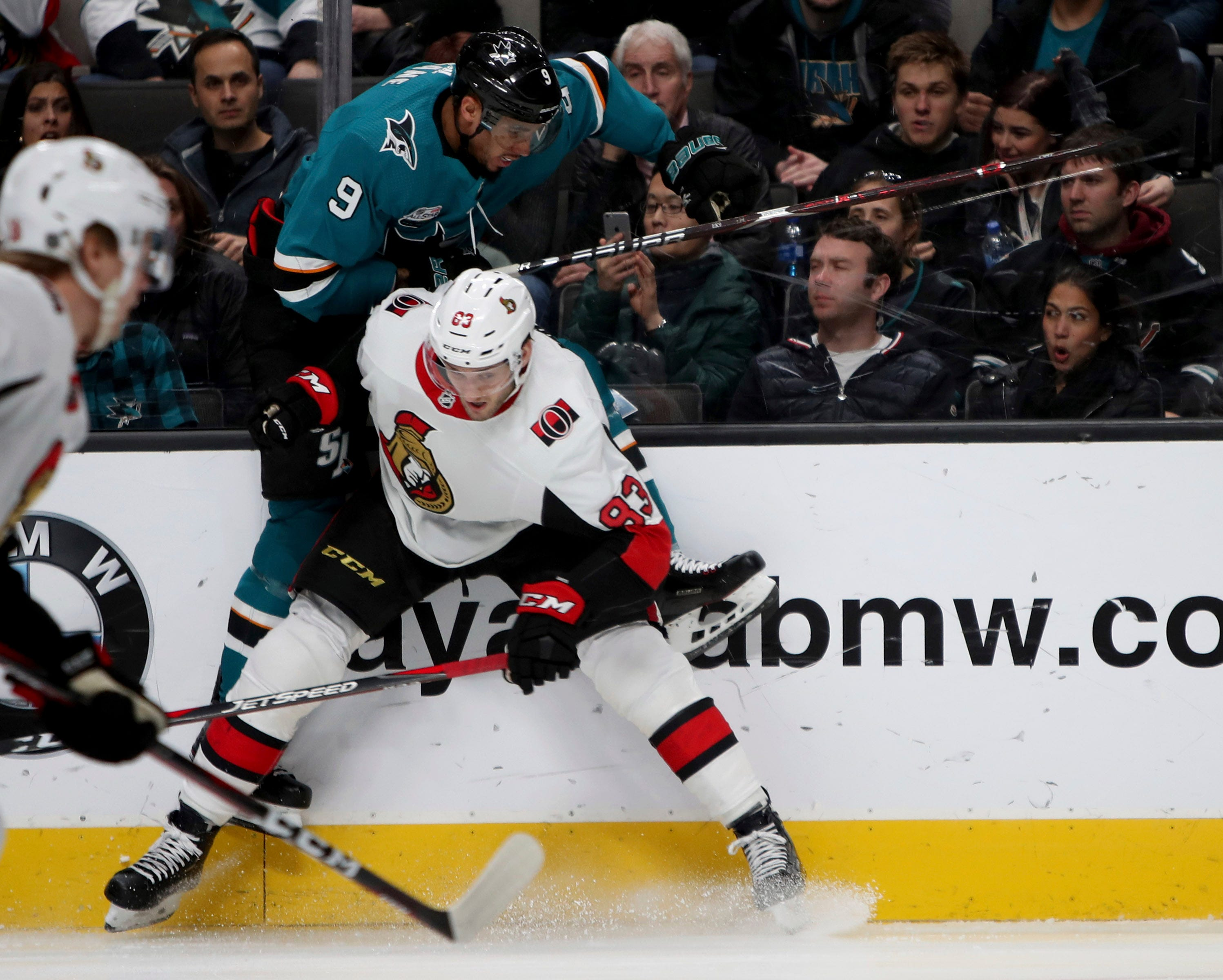 Burns, Jones lead Sharks to 4-1 win over Senators