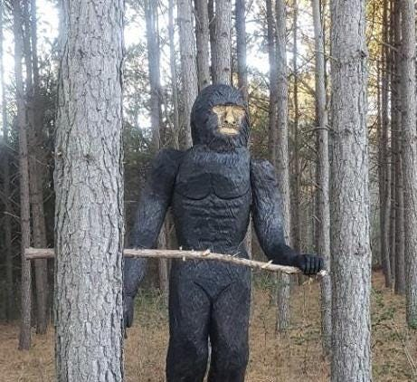 No, that's not Bigfoot: 8-foot statue causes stir