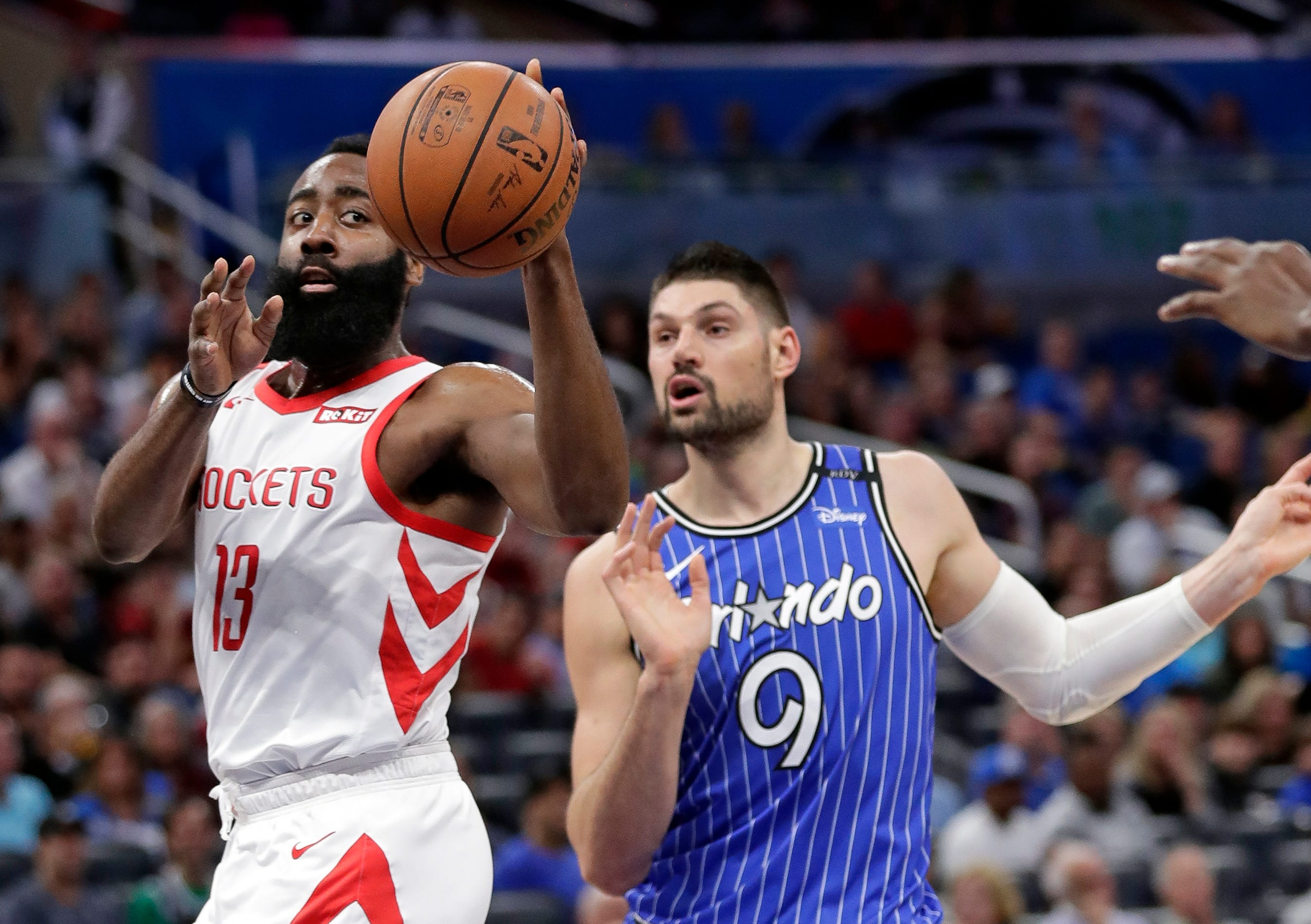 Sweet, and unsweet, 16 for Harden on a wild night in Orlando