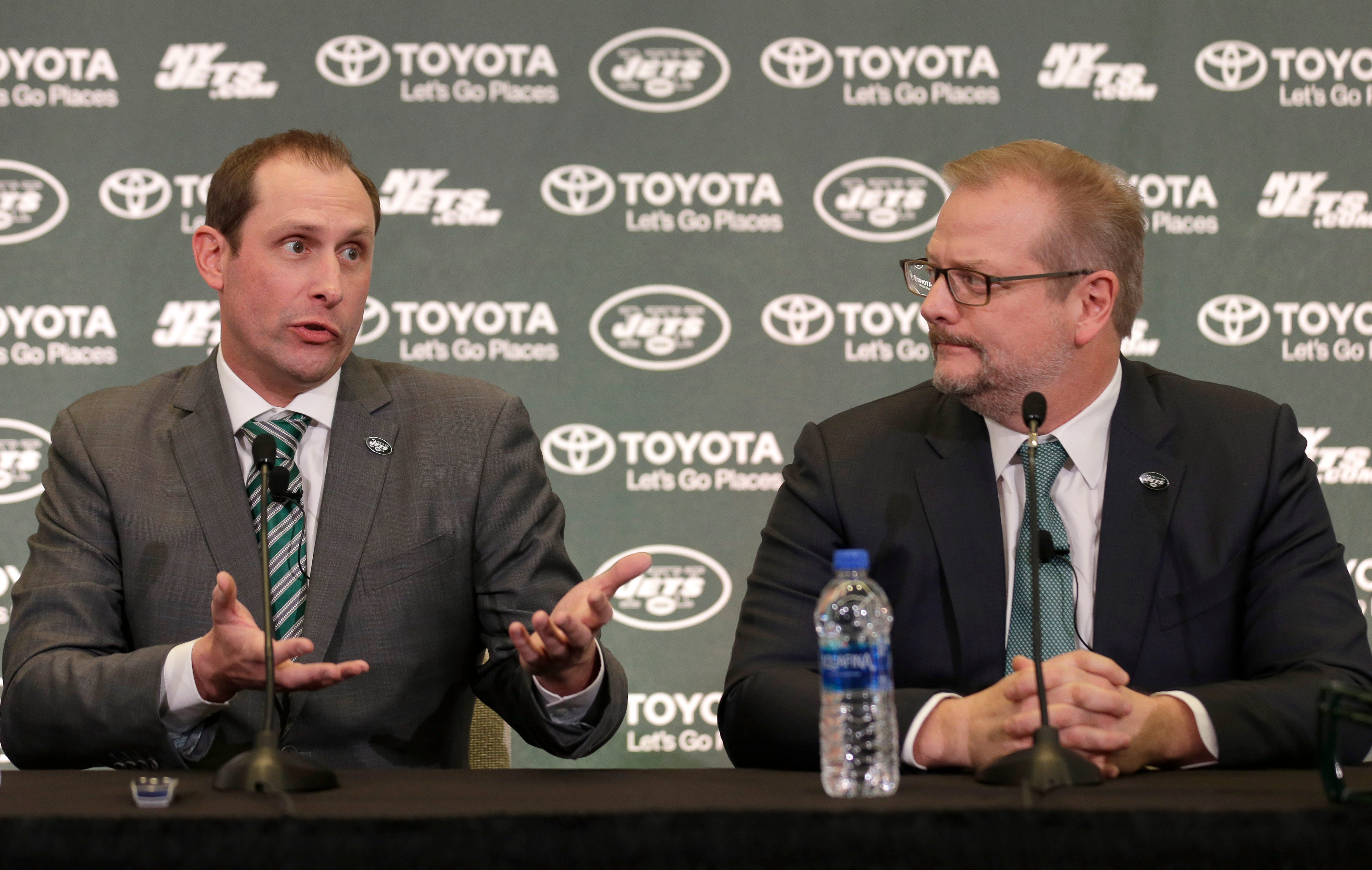 Jets GM Mike Maccagnan says there's no rift between him and coach Adam Gase