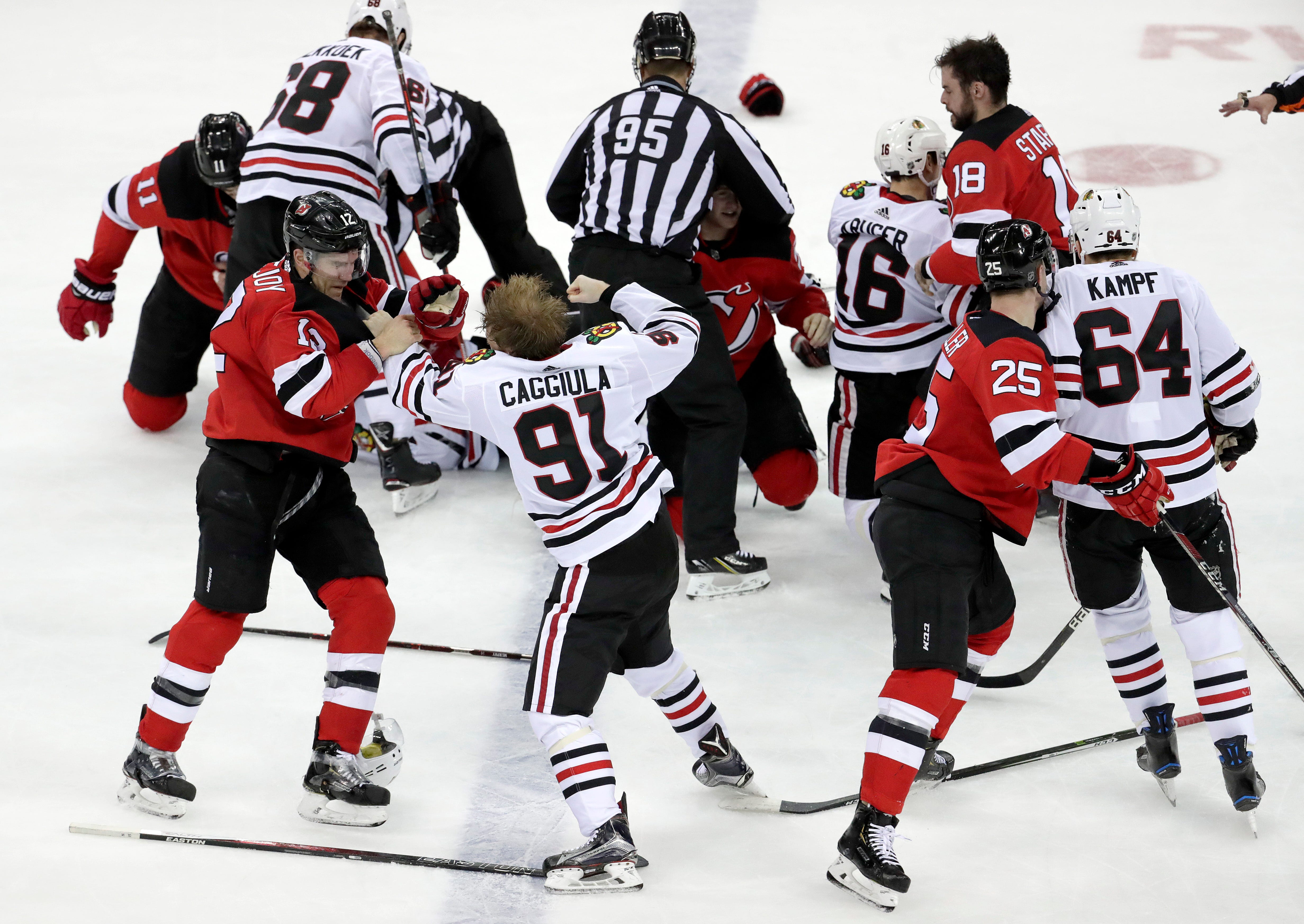 Palmieri, Coleman score 2, Devils tally 8 beating Chicago