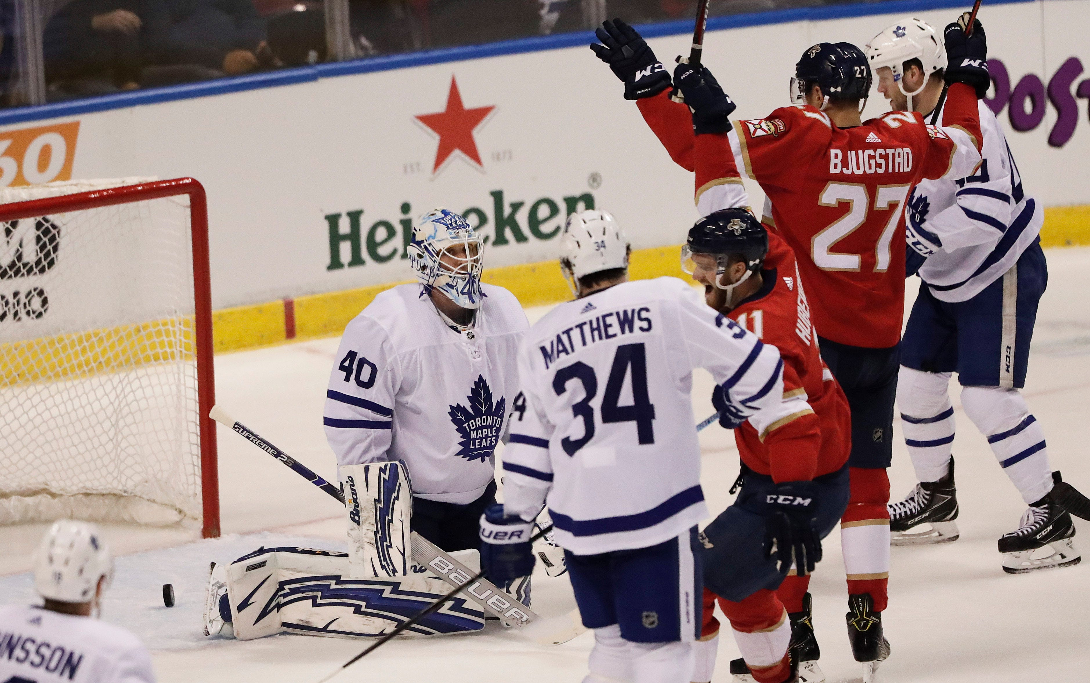 Matheson, Trocheck lead Panthers to 3-1 win over Maple Leafs