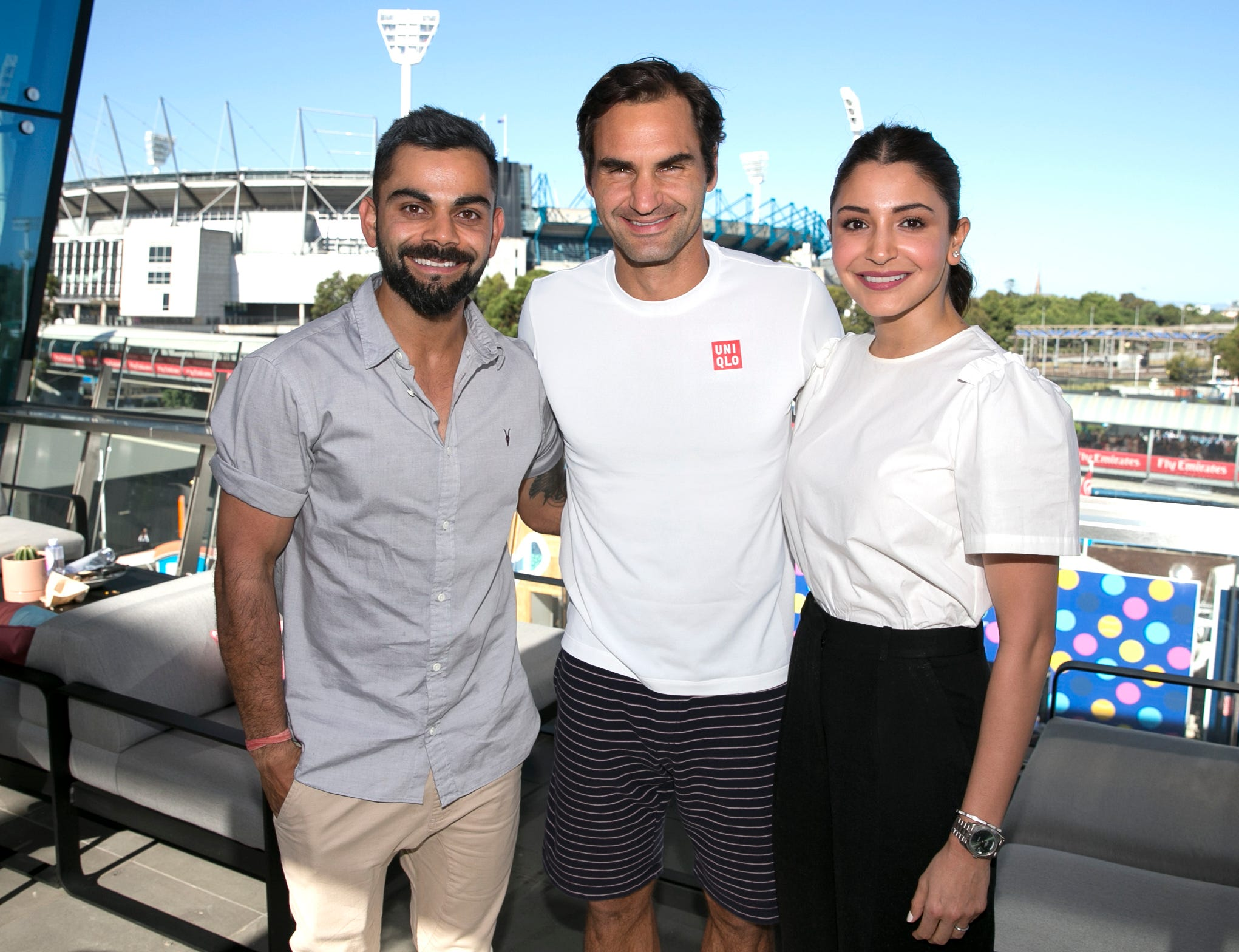 The Latest: Cricket star Kohli meets Federer at Aussie Open