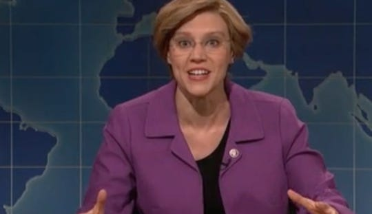 SNL's Warren wants to be the woman you don't elect for president
