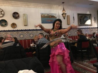 Casablanca in East Brunswick hosts two belly dancing shows per weekend night at their restaurant.
