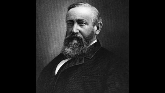 Benjamin Harrison. Term:  1889-1893) (23rd president). Peak net worth (in current dollars):  $6.1 million.