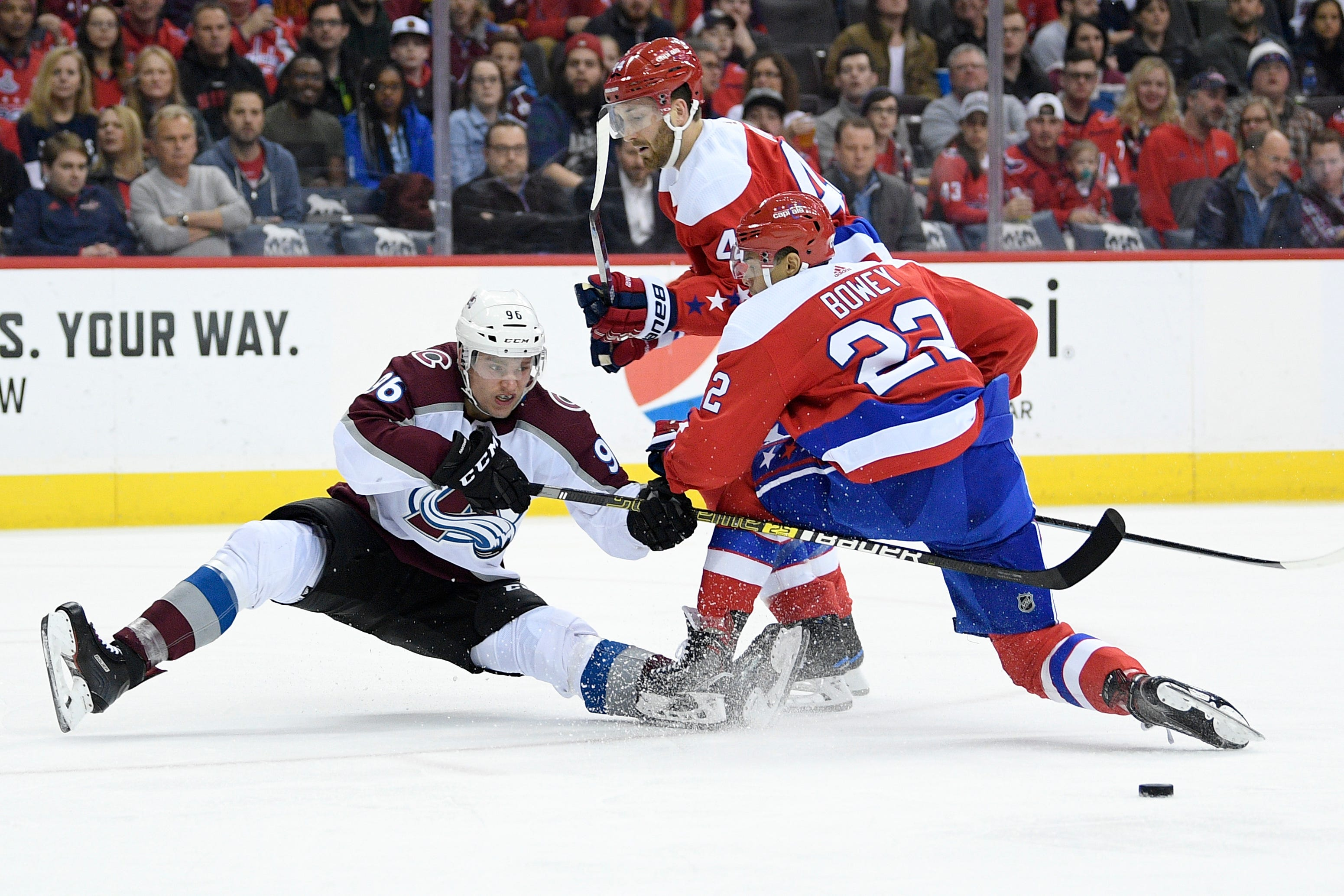 Caps beat Avs in OT, Colorado loses 5th consecutive game