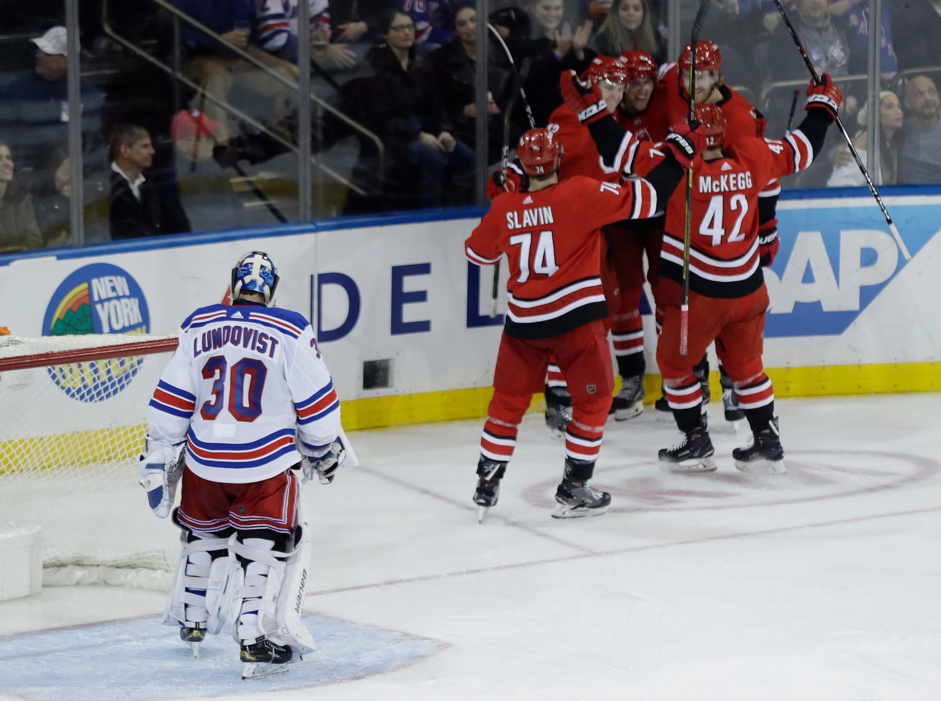 Hurricanes spoil Rangers' Stanley Cup anniversary celebration with 3-0 victory
