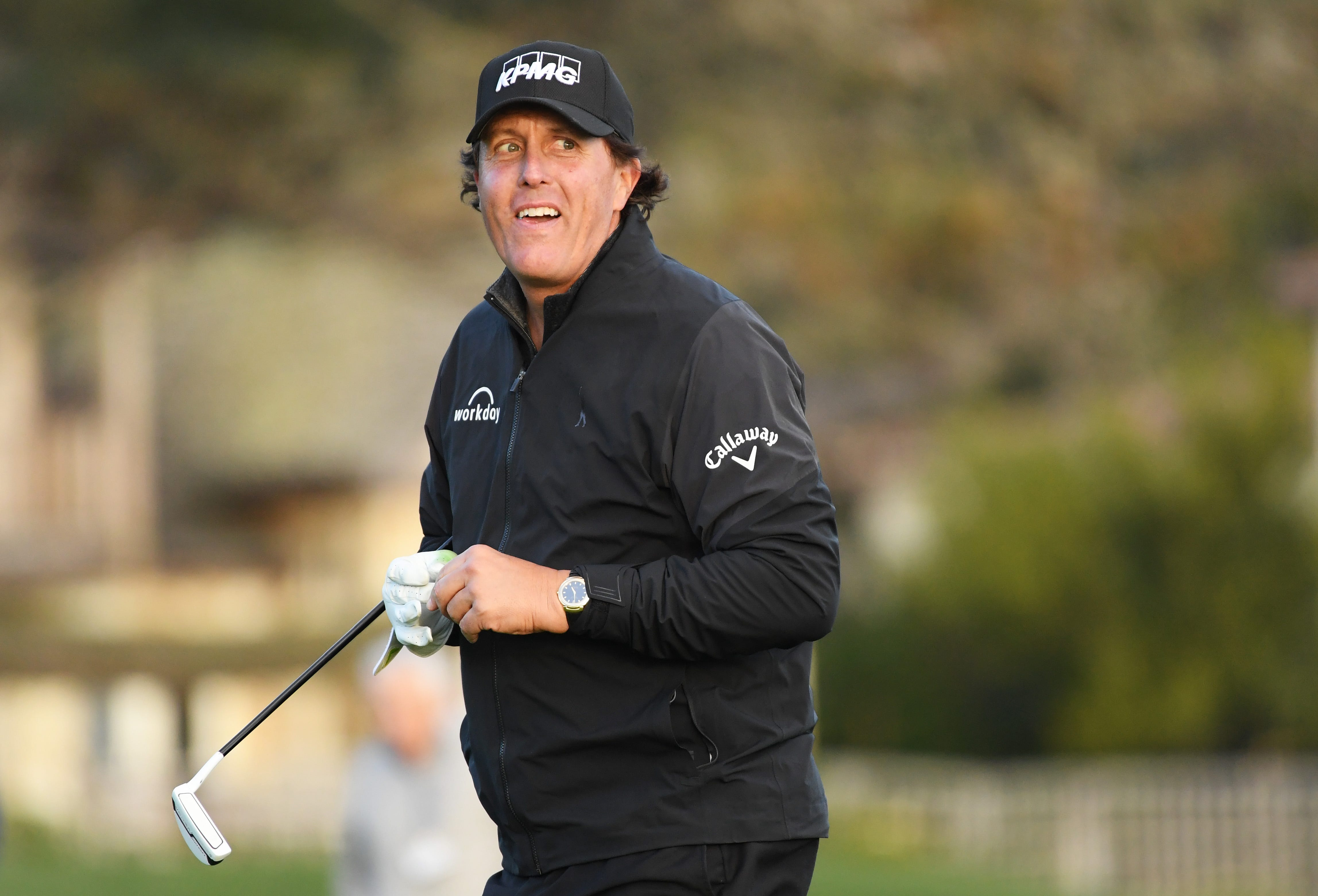 Phil Mickelson holds on for AT&T Pebble Beach Pro-Am win with Monday finish